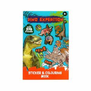 Kleur- Stickerboek Dino J